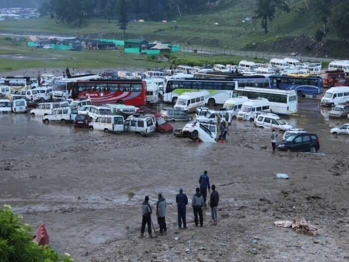 A view of Baltal base camp. Photo courtesy: Indian Army