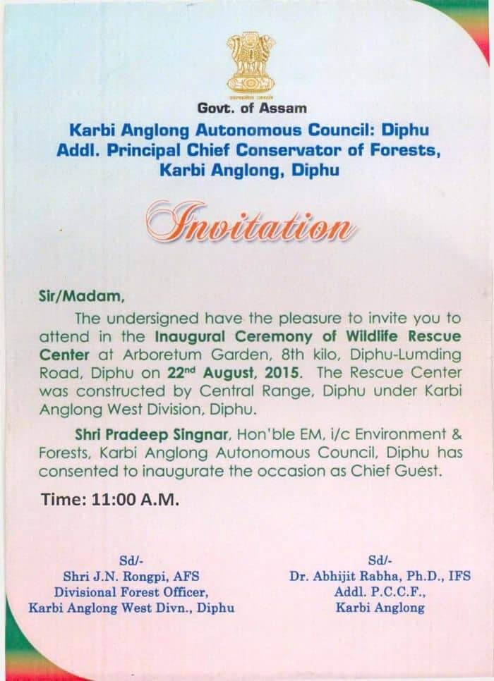 wildlife centre opening invitation