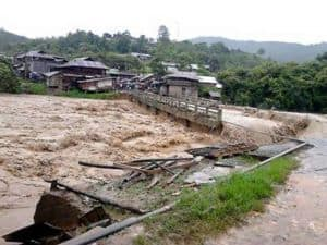 Manipur bridge washed away