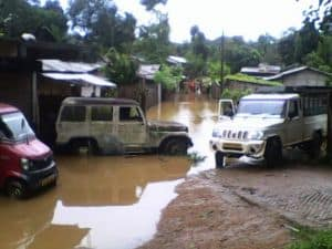 Vehicles and Homes Damaged In Hamren Town Flash Flood