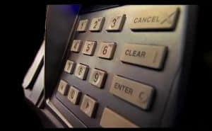 Bank ATM keypad