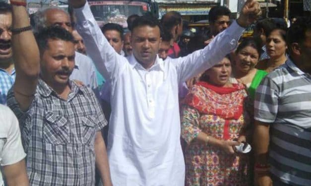 Janipur Residents Protest Jammu Public Works Department