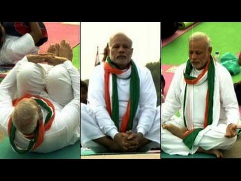 PM Modi Leads Yoga Day 1