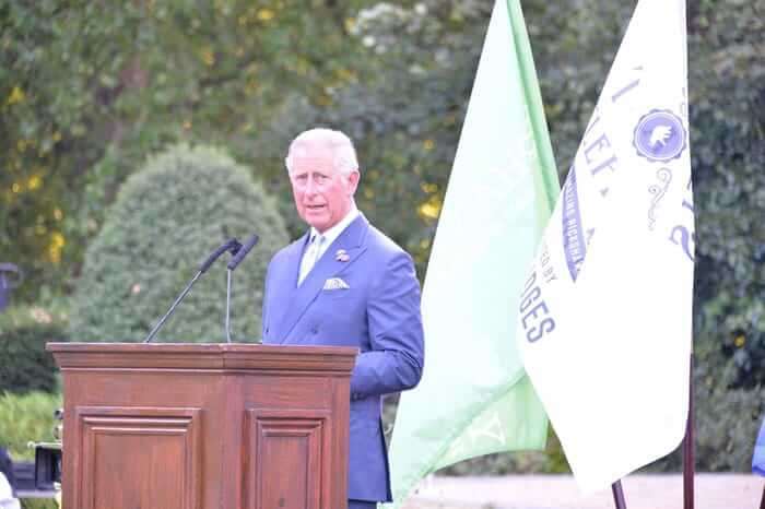 HRH The PRINCE OF WALES at the Quintessentially Foundation and Elephant Family 's 'Travels to My Elephant' Royal Rickshaw Auction presented by Selfridges and hosted by HRH The Prince of Wales and The Duchess of Cornwall held at Lancaster House, Cleveland Row, St.James's, London on 30th June 2015.
