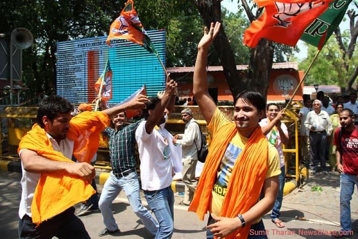 dancing flag waving