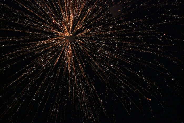 The Diwali festival is marked with lavish firework displays.