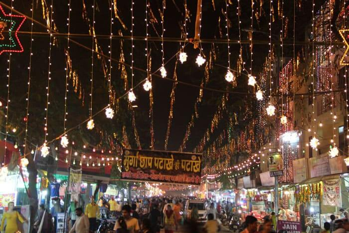Markets Decorated For Diwali Festival