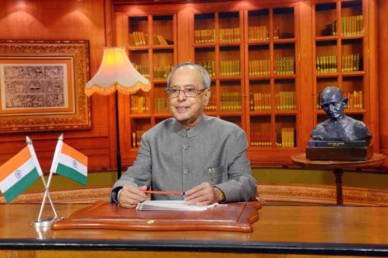 Indian President Pranab Muherjee addressing the Nation.(PIB Photo)