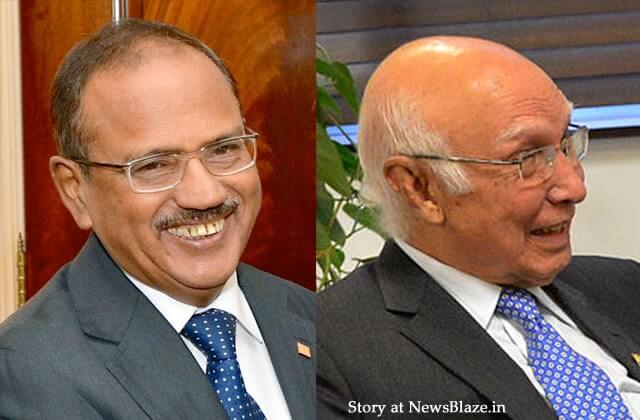 Ajit Doval and Sartaj Aziz