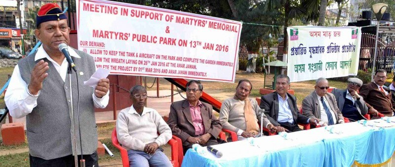 Rally to support a martyrs memorial