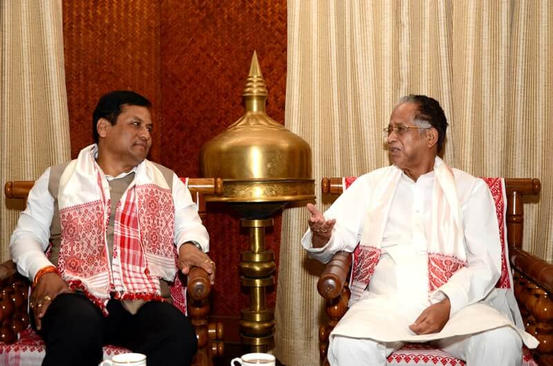 Sarbananda Sonowal and Tarun Gogoi.
