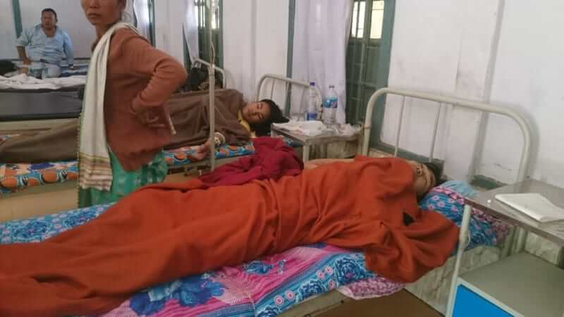 two upla cadres in hospital.