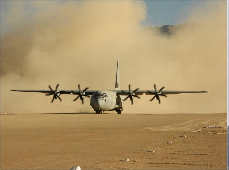 IAF plane landing.