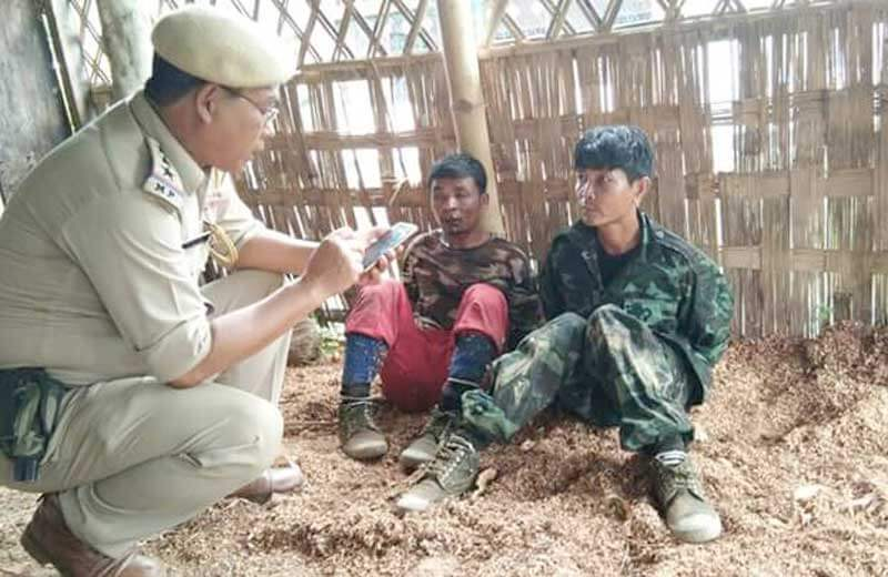 assam rifles interrogate militants.