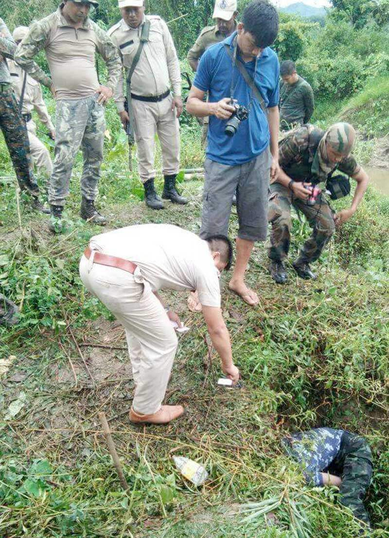 assam rifles search for arms.
