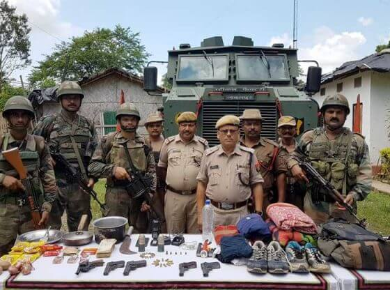 assam rifles with ulfa arms cache.