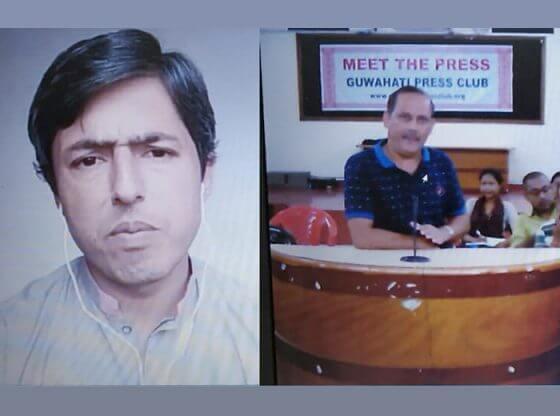 Haris Qadeer speaks to Guwahati Press Club