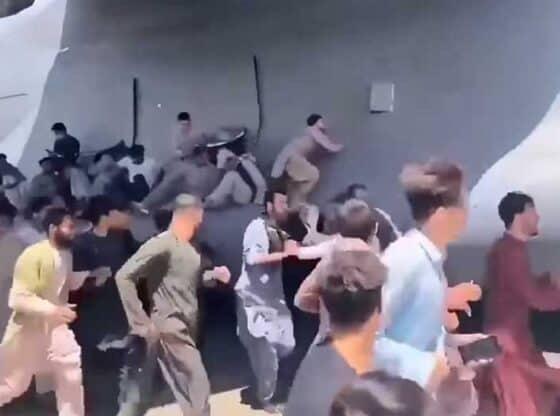 afghanistan airport chaos. youtube screenshot.
