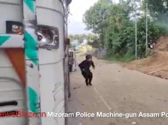 mizoram police machine gun assam police